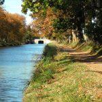 Pont sur canal du midi, aude, sud de france